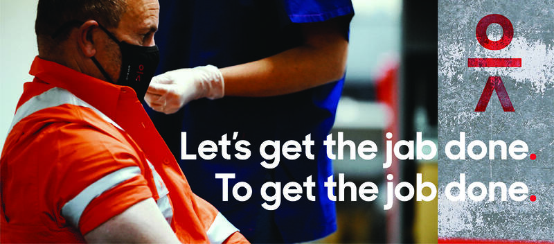 1. Get the jab done. To get the job done
